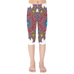 Tile Background Image Pattern Kids  Capri Leggings  by Pakrebo