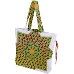 Star Pattern  Background Image Drawstring Tote Bag