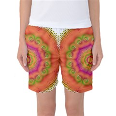 Pattern Colorful Abstract Women s Basketball Shorts