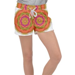 Pattern Colorful Abstract Women s Velour Lounge Shorts