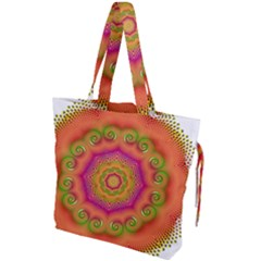 Pattern Colorful Abstract Drawstring Tote Bag