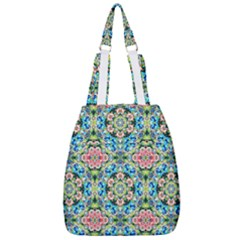 Tile Background Pattern Pattern Center Zip Backpack