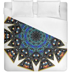 Fractal Tile Kaleidoscope Design Duvet Cover (king Size) by Pakrebo
