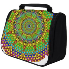 Tile Background Image Graphic Fractal Mandala Full Print Travel Pouch (big)