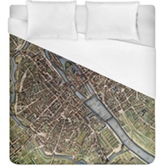 Paris Map City Old Duvet Cover (king Size) by Pakrebo