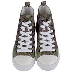 Paris Map City Old Women s Mid Top Canvas Sneakers