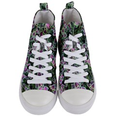 Ivy Lace Flower Flora Garden Women s Mid Top Canvas Sneakers
