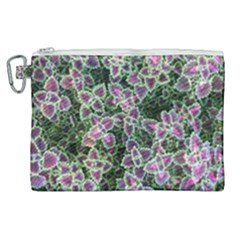 Ivy Lace Flower Flora Garden Canvas Cosmetic Bag (xl)