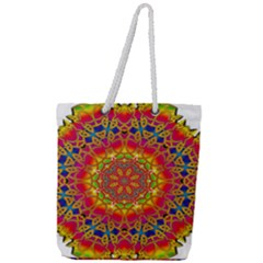 Pattern Button Logo Characters Full Print Rope Handle Tote (large)