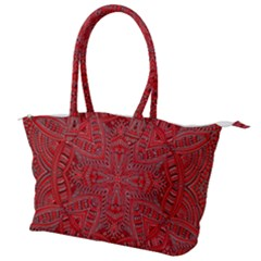 Tile Background Image Graphic 35 Red Canvas Shoulder Bag