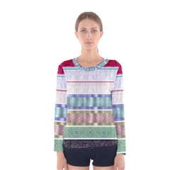 Scrapbook Scrap Elements Women s Long Sleeve Tee