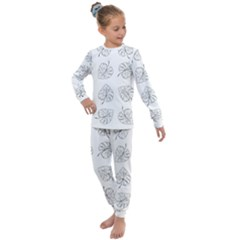 Tropical Leaves Kids  Long Sleeve Set  by goljakoff