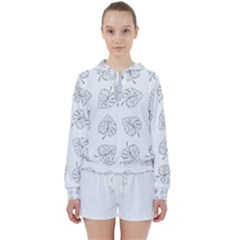 Tropical Leaves Women s Tie Up Sweat by goljakoff