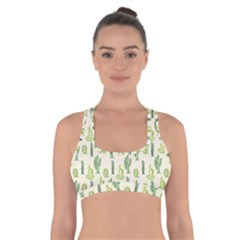 Cactus Pattern Cross Back Sports Bra by goljakoff