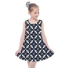 Black And White Fantasy Kids  Summer Dress