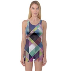 Geometric Sense One Piece Boyleg Swimsuit by WensdaiAddamns