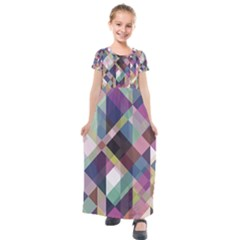 Geometric Sense Kids  Short Sleeve Maxi Dress by WensdaiAddamns