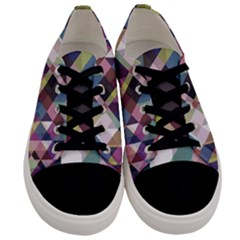 Geometric Sense Men s Low Top Canvas Sneakers