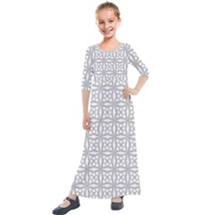 N¨a Neart Go Cur Le Ch¨|ile Kids  Quarter Sleeve Maxi Dress by WensdaiAddamns