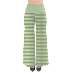 Green Gingham So Vintage Palazzo Pants