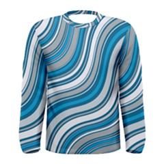 Blue Wave Surges On Men s Long Sleeve Tee