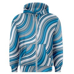Blue Wave Surges On Men s Zipper Hoodie by WensdaiAddamns