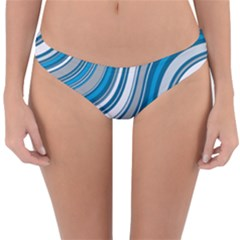 Blue Wave Surges On Reversible Hipster Bikini Bottoms by WensdaiAddamns
