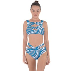 Blue Wave Surges On Bandaged Up Bikini Set  by WensdaiAddamns