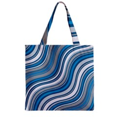 Blue Wave Surges On Grocery Tote Bag by WensdaiAddamns