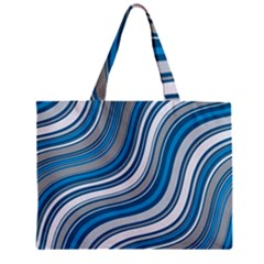 Blue Wave Surges On Zipper Mini Tote Bag by WensdaiAddamns