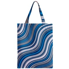 Blue Wave Surges On Zipper Classic Tote Bag by WensdaiAddamns