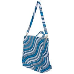 Blue Wave Surges On Crossbody Backpack by WensdaiAddamns