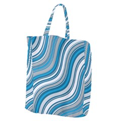 Blue Wave Surges On Giant Grocery Tote by WensdaiAddamns