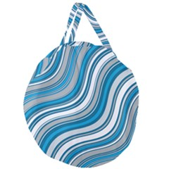 Blue Wave Surges On Giant Round Zipper Tote by WensdaiAddamns