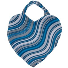 Blue Wave Surges On Giant Heart Shaped Tote by WensdaiAddamns