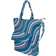 Blue Wave Surges On Shoulder Tote Bag by WensdaiAddamns