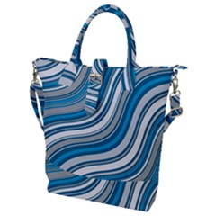 Blue Wave Surges On Buckle Top Tote Bag by WensdaiAddamns