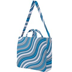 Blue Wave Surges On Square Shoulder Tote Bag by WensdaiAddamns