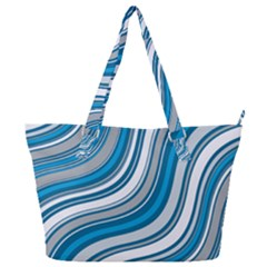 Blue Wave Surges On Full Print Shoulder Bag by WensdaiAddamns