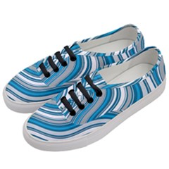 Blue Wave Surges On Women s Classic Low Top Sneakers by WensdaiAddamns