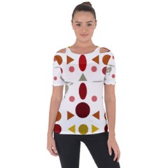 Zappwaits Collection Shoulder Cut Out Short Sleeve Top