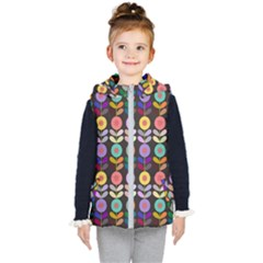 Zappwaits Flowers Kids  Hooded Puffer Vest