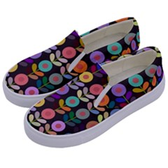 Zappwaits Flowers Kids  Canvas Slip Ons by zappwaits