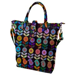 Zappwaits Flowers Buckle Top Tote Bag