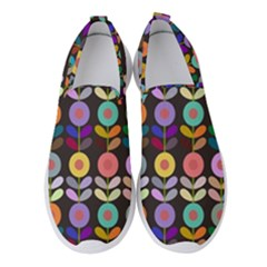 Zappwaits Flowers Women s Slip On Sneakers