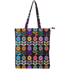 Zappwaits Flowers Double Zip Up Tote Bag
