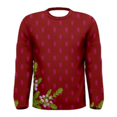 Vivid Burgundy & Heather Men s Long Sleeve Tee
