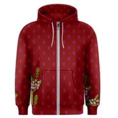 Vivid Burgundy & Heather Men s Zipper Hoodie