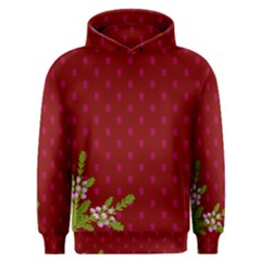 Vivid Burgundy & Heather Men s Overhead Hoodie