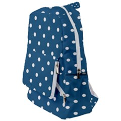 Turquoise Polka Dot Travelers  Backpack by retrotoomoderndesigns